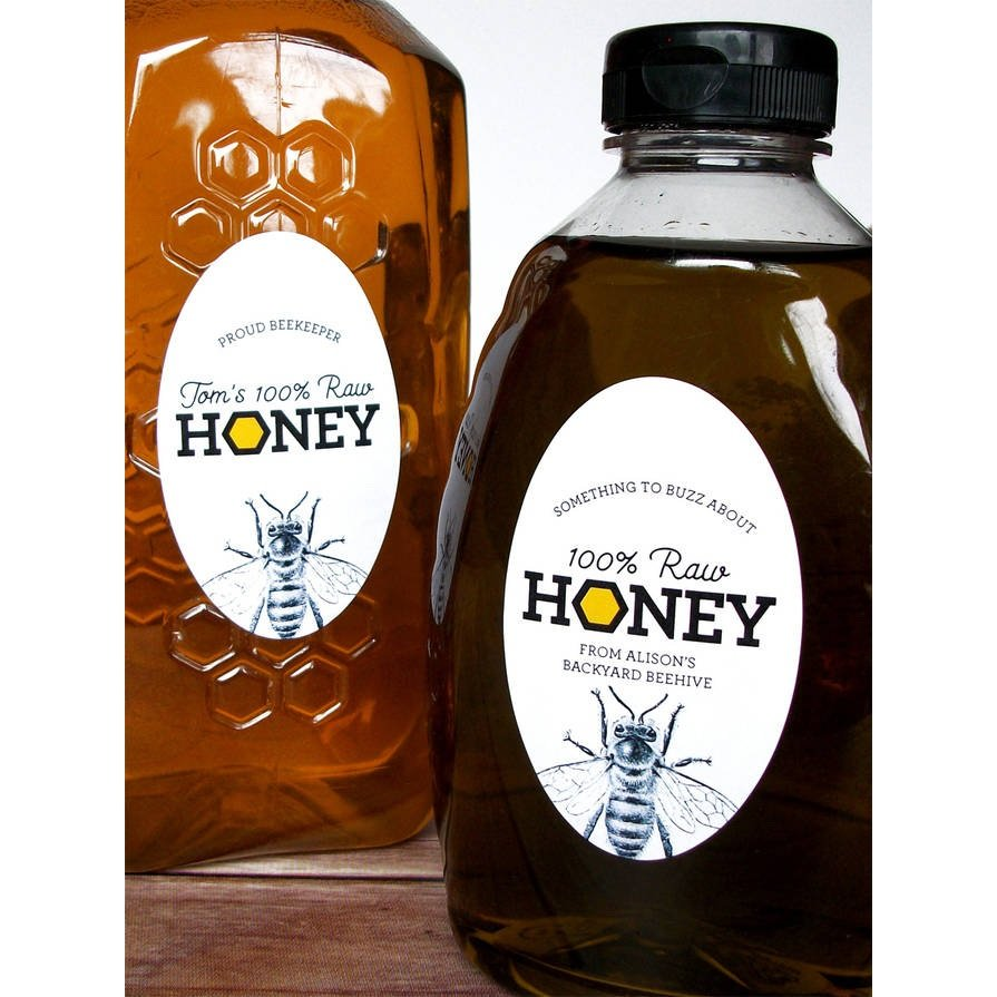 Custom Oval Honey Labels For Backyard Beekeepers