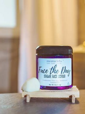 Face the Day Sugar Face Scrub Label