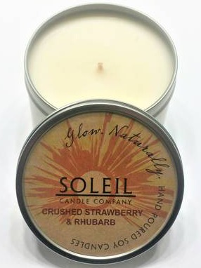 Soleil Candle Company Soy Wax Candle Tins