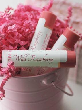 Sage & Savvy Wild Raspberry Lip Balm Label