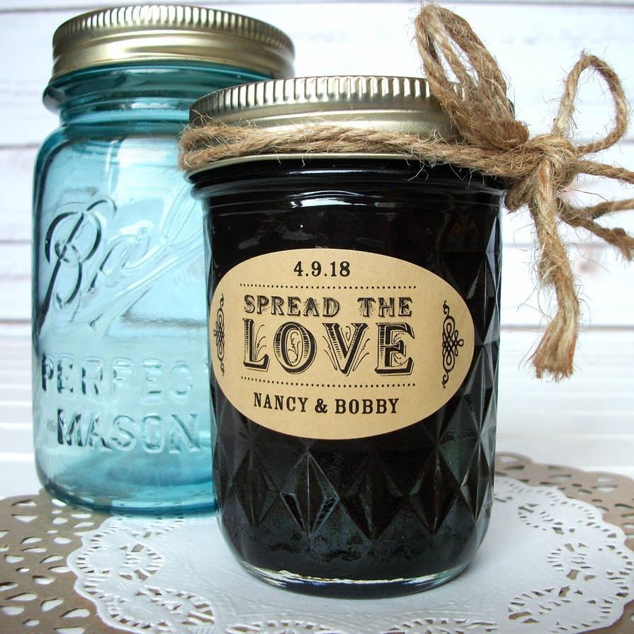 Wedding Jam Jar Favor Labels