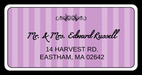 wedding address labels template