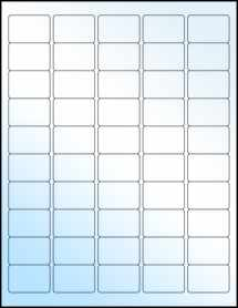"""Sheet of 1.5"""" x 1"""" White Gloss Laser labels"""