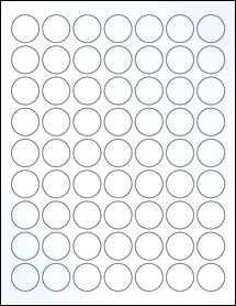 "Sheet of 1"" Circle Clear Gloss Inkjet labels"
