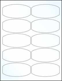 """Sheet of 3.875"""" x 1.875"""" Clear Gloss Laser labels"""
