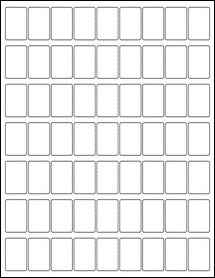 """OL105 - 0.85"""" x 1.3"""" Blank Label Template for PDF"""