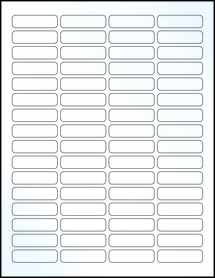 """Sheet of 1.813"""" x 0.5"""" Clear Gloss Laser labels"""