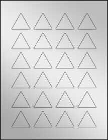"""Sheet of 1.5"""" x 1.299"""" Silver Foil Inkjet labels"""