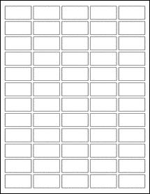 "Sheet of 1.5"" x 0.75"" Aggressive White Matte labels"