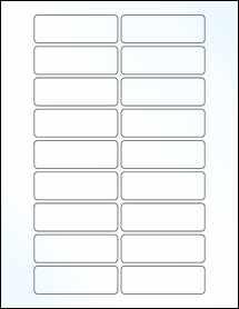 "Sheet of 3"" x 1"" Clear Gloss Inkjet labels"