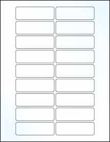 """Sheet of 3"""" x 1"""" Clear Gloss Laser labels"""