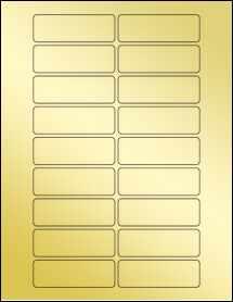 """Sheet of 3"""" x 1"""" Gold Foil Inkjet labels"""
