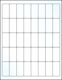 """Sheet of 1"""" x 2"""" Clear Gloss Laser labels"""