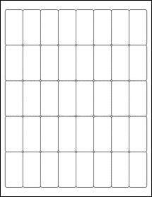 """Sheet of 1"""" x 2"""" Weatherproof Matte Inkjet labels"""