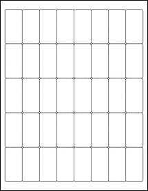 "Sheet of 1"" x 2"" Aggressive White Matte labels"