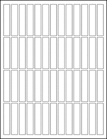 "OL1182 - 0.5"" x 2.5"" Blank Label Template for Microsoft Word"