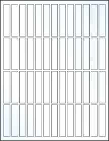 "Sheet of 0.5"" x 2.5"" Clear Gloss Inkjet labels"