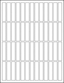 "Sheet of 0.5"" x 2.5"" Standard White Matte labels"