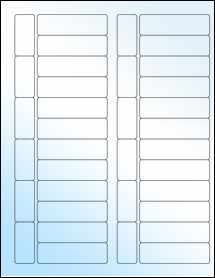 """Sheet of 2.7953"""" x 0.8268"""" White Gloss Laser labels"""