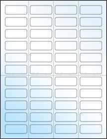 """Sheet of 1.75"""" x 0.7"""" White Gloss Inkjet labels"""