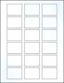 "Sheet of 2"" x 1.5"" Clear Gloss Inkjet labels"