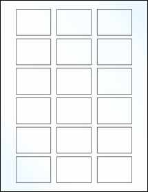 """Sheet of 2"""" x 1.5"""" Clear Gloss Laser labels"""