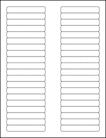 """Sheet of 3.125"""" x 0.5"""" Removable White Matte labels"""