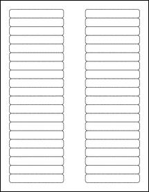 "Sheet of 3.125"" x 0.5"" Standard White Matte labels"