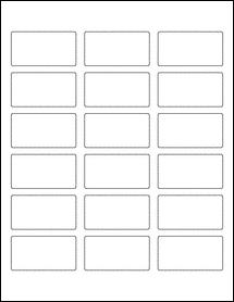 "Sheet of 2.375"" x 1.25"" Aggressive White Matte labels"
