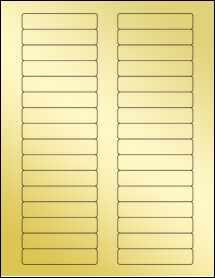 """Sheet of 3"""" x 0.625"""" Gold Foil Inkjet labels"""
