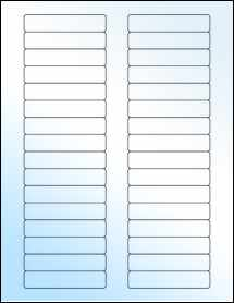 """Sheet of 3"""" x 0.625"""" White Gloss Laser labels"""