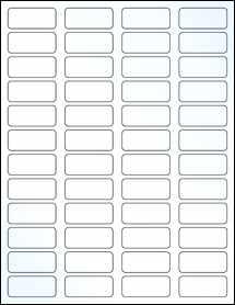 "Sheet of 1.75"" x 0.75"" Clear Gloss Inkjet labels"
