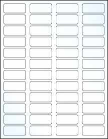 """Sheet of 1.75"""" x 0.75"""" Clear Gloss Laser labels"""
