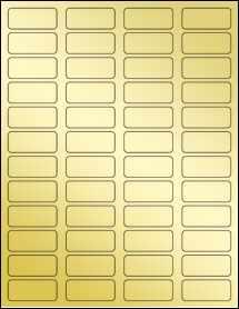 """Sheet of 1.75"""" x 0.75"""" Gold Foil Laser labels"""