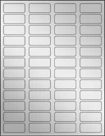 """Sheet of 1.75"""" x 0.75"""" Silver Foil Laser labels"""