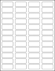 """Sheet of 1.75"""" x 0.75"""" Removable White Matte labels"""