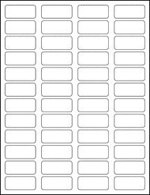 "Sheet of 1.75"" x 0.75"" Standard White Matte labels"