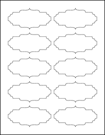 """Sheet of 3.5"""" x 1.75"""" 100% Recycled White labels"""