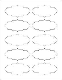 """Sheet of 3.5"""" x 1.75"""" Weatherproof Gloss Inkjet labels"""