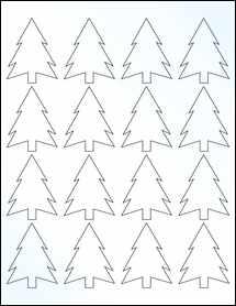 "Sheet of 1.8327"" x 2.3458"" Clear Gloss Inkjet labels"