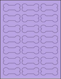 """Sheet of 2.3852"""" x 1.0671"""" True Purple labels"""