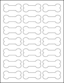 "Sheet of 2.3852"" x 1.0671"" Aggressive White Matte labels"