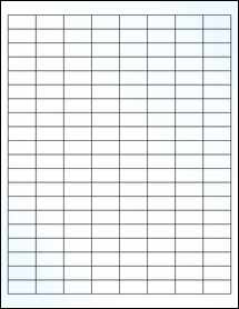 "Sheet of 1"" x 0.5"" Clear Gloss Inkjet labels"