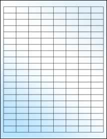 """Sheet of 1"""" x 0.5"""" White Gloss Laser labels"""