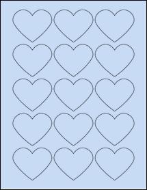 "Sheet of 2.2754"" x 1.8872"" Pastel Blue labels"