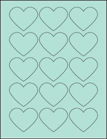 "Sheet of 2.2754"" x 1.8872"" Pastel Green labels"