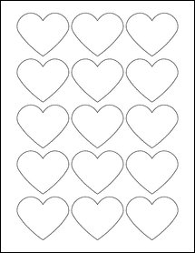 """Sheet of 2.2754"""" x 1.8872"""" Removable White Matte labels"""