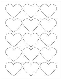 "Sheet of 2.2754"" x 1.8872"" Standard White Matte labels"