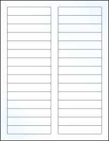 "Sheet of 3.4375"" x 0.669"" Clear Gloss Inkjet labels"