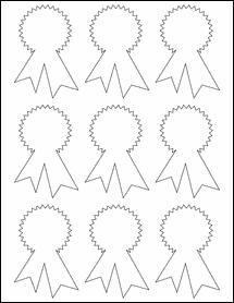 """Sheet of 2.3414"""" x 3.4028"""" Weatherproof Gloss Inkjet labels"""